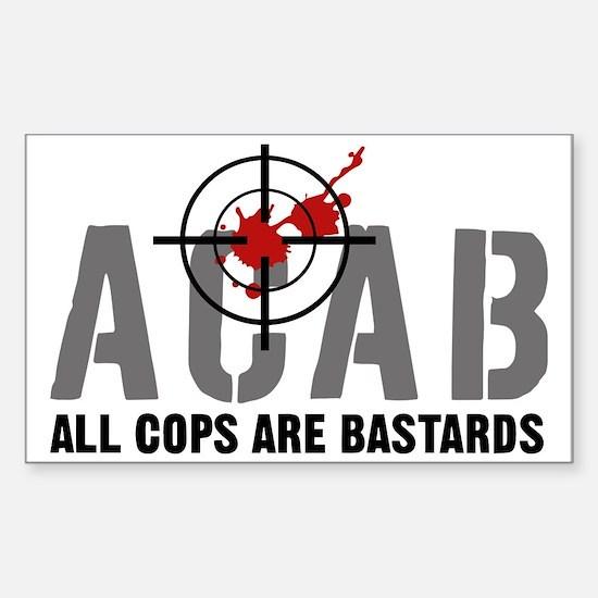 ALL COPS ARE BASTARDS Sticker (Rectangle)