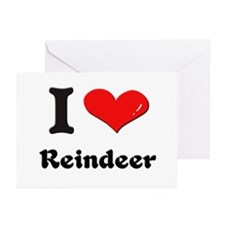 I love reindeer  Greeting Cards (Pk of 10)
