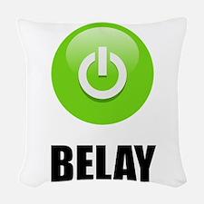 On Belay Woven Throw Pillow