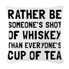 Shot Of Whiskey Woven Throw Pillow