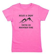 On Mountain Time Girl's Tee