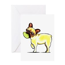 Sporty Frenchie Greeting Card