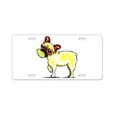 Sporty Frenchie Aluminum License Plate
