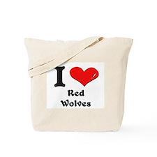 I love red wolves Tote Bag