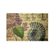 paris lilac vintage keys seashells beach Magnets