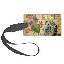 paris lilac vintage keys seashells beach Luggage Tag