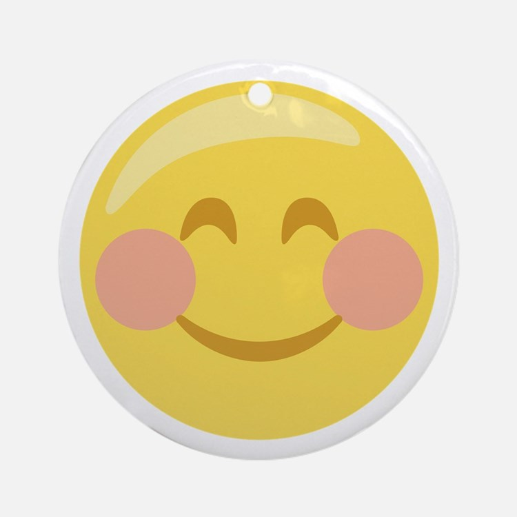 Smiley Face Emoticon Ornament (Round)