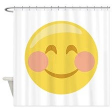 Smiley Face Emoticon Shower Curtain