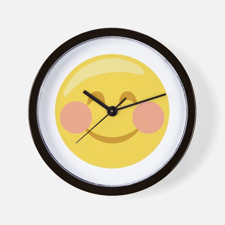Smiley Face Emoticon Wall Clock