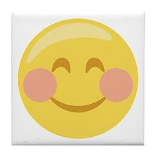 Smiley Face Emoticon Tile Coaster