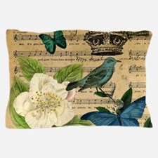 paris rose butterfly music notes jubilee Pillow Ca