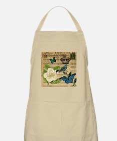 paris rose butterfly music notes jubilee Apron