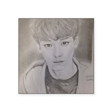 "EXO Chen Drawing  Square Sticker 3"" x 3"""