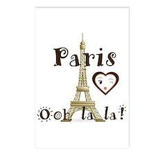 Paris Ooh La La Postcards (package Of 8)