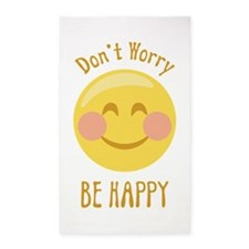 Dont Worry Be Happy 3'x5' Area Rug