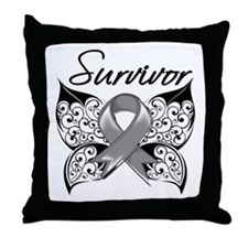 Survivor Brain Tumor Throw Pillow