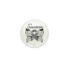 Survivor Brain Tumor Mini Button (10 pack)