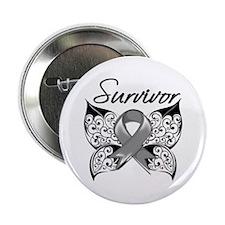 """Survivor Brain Tumor 2.25"""" Button (100 pack)"""