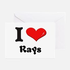 I love rays  Greeting Cards (Pk of 10)