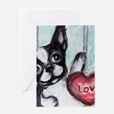 Boston Terrier Heart Greeting Cards