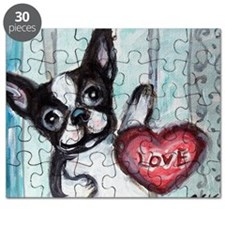 Boston Terrier Heart Puzzle