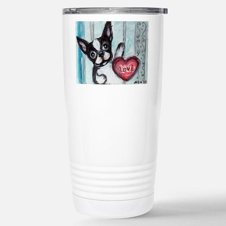 Boston Terrier Heart Travel Mug