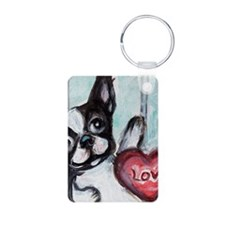 Boston Terrier Heart Keychains