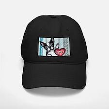 Boston Terrier Heart Baseball Hat
