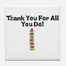 Cute Teacher Tile Coaster