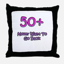 50 Plus Throw Pillow