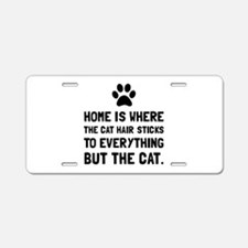 Cat Hairs Sticks Aluminum License Plate