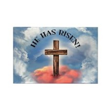 He Has Risen Rugged Cr Rectangle Magnet (100 pack)