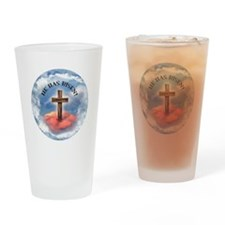 He Has Risen Rugged Cross With Clou Drinking Glass