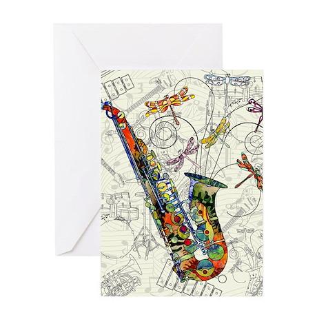 Sax Greeting Cards