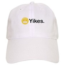 Yikes Emoticon Baseball Baseball Cap