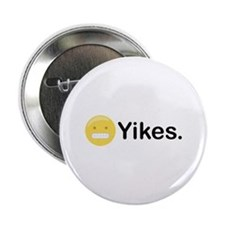 "Yikes Emoticon 2.25"" Button"