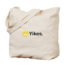 Yikes Emoticon Tote Bag