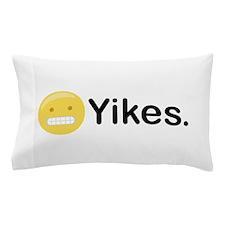 Yikes Emoticon Pillow Case