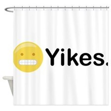 Yikes Emoticon Shower Curtain