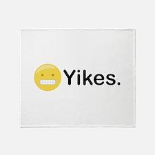 Yikes Emoticon Throw Blanket
