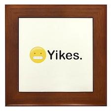 Yikes Emoticon Framed Tile