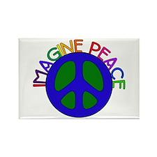 Imagine Peace Rectangle Magnet