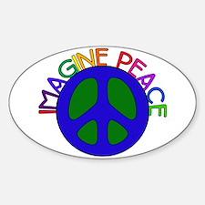 Imagine Peace Oval Decal