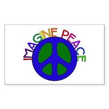 Imagine Peace Rectangle Decal
