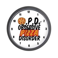 Funny Pizza Wall Clock