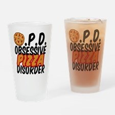 Funny Pizza Drinking Glass