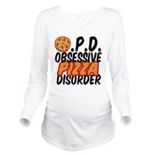 Funny Pizza Long Sleeve Maternity T-Shirt