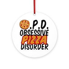 Funny Pizza Ornament (Round)