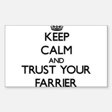 Keep Calm and Trust Your Farrier Decal