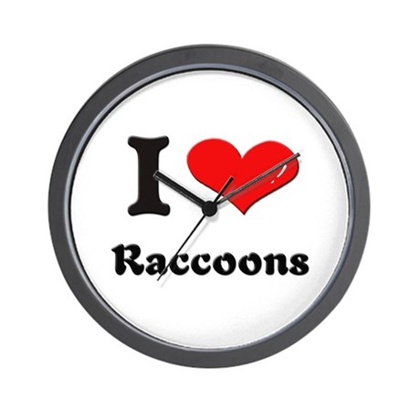 I love raccoons Wall Clock